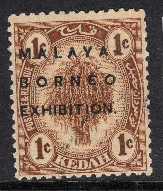 MALAYA KEDAH SG45 1922 1c BROWN FINE USED