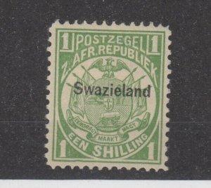 Swaziland QV 1889/90 1/- Green O/P SG3 MH JK2610