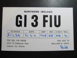 9788 Amateur Radio QSL Card NORTHERN IRELAND
