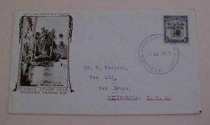 SAMOA FDC 1935  CACHETED TO USA