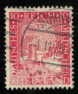 RHEINLAND, 10 Pf, Deutsches Reich, MC #373, Germany (T-6959)