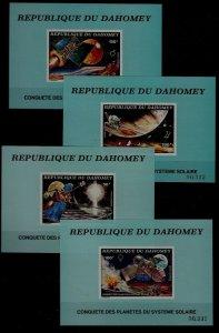 Dahomey C238-41 MNH s/s Space