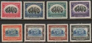 Ecuador Sc #394-397, C87-C90 Mint Hinged