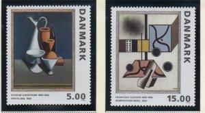 Denmark  Scott 996-97 1993 Paintings stamp set mint NH