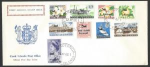 COOK IS 1966 Airmail set to £1 complete on commem FDC.....................11574