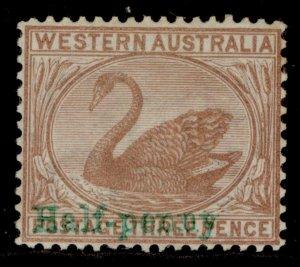 AUSTRALIA - Western Australia QV SG107, 1d on 3d pale brown, M MINT. Cat £15.