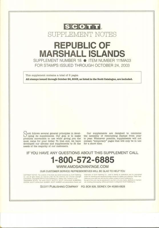 Marshall Islands Supplement # 18