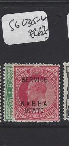 INDIA NABHA   (PP0807B)  KE  1/2A. 1A    SERVICE SG O35-6      MOG