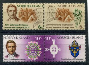Norfolk Isl. 144-47 MNH 1971 Bishop Patterson