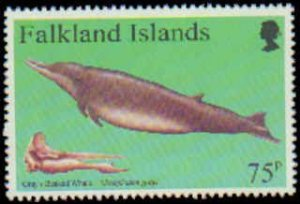 Falkland Islands #663-666, Complete Set ( 4 ), 1996, Whales, Never Hinged