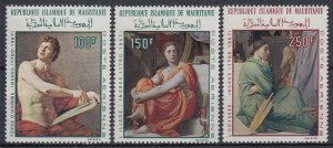 1968 Mauritania 344-346 100 years to the artist Dominic Ingres 10,00 €