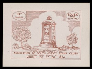 SOJEX 1954 (19th) Stamp Show - MINT, Never Hinged, F-VF or Better