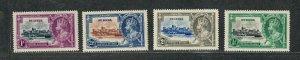 St. Lucia Sc#91-94 M/NH/VF, Silver Jubilee, Cv. $26