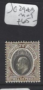 SOUTHERN NIGERIA  (P2407BB)  KE   2/6  SG 29AB   MOG