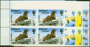 Falkland Islands 1974 Tourism Set of 4 SG296-299 V.F. MNH Blocks of 4
