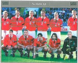 FOOTBALL - STAMPS: Turkmenistan - EURO 2000: NORWAY