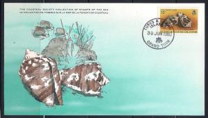 Turks & Caicos FDC card Sc 439 Cousteau Soc. Crown Cone L100