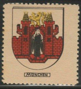 Munchen Cinderella Poster Stamp Reklamemarken A7P4F801