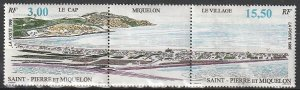 1996 St. Pierre and Miquelon - Sc 630a - MNH VF - 1 pr - Aerial View of SPM