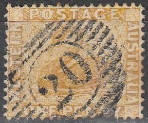 Western Australia #49  F-VF Used  CV $3.00 (A16716)
