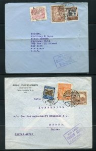 COLOMBIA LOT OF 6 COMMERCIAL AIR MAILS CORREO AEREO MANCOMUN COVERS AS SHOWN