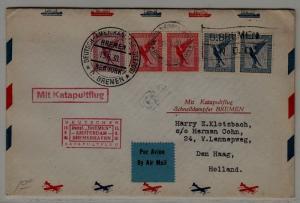 Germany Catapult cover 15.6.30 Bremen-Amsterdam