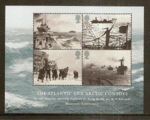 GB 2013 Atlantic & Arctic Convoys - Merchant Navy Mini Sheet MNH