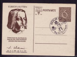 Germany Mi.# P286/03 Ulrich Hutton1940 TdB event cancel L52