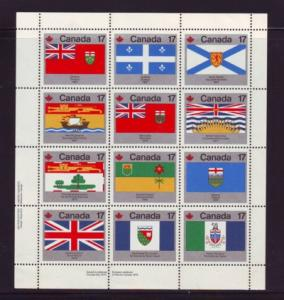 Canada Sc  825a 1979 Provincial Flags stamp sheet mint NH