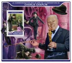 Togo - 2017 Filmmaker Charlie Chaplin - Stamp Souvenir Sheet-TG17215b