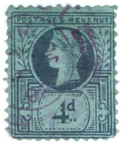 (I.B) QV Cinderella : Jubilee Issue 4d (counterfeit)
