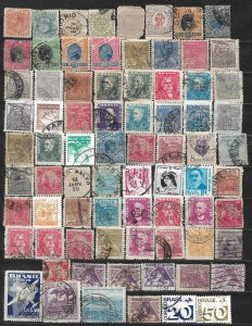 COLLECTION LOT OF 76 BRAZIL 1884+ STAMPS