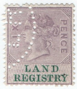 (I.B) QV Revenue : Land Registry 6d (1881)