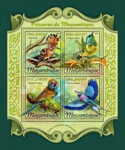 Mozambique - 2018 Mozambique Birds - 4 Stamp Sheet - MOZ18116a