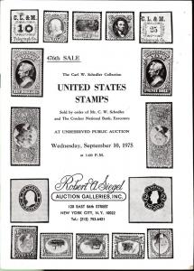 The Carl W. Schedler Collection of United States Stamps, ...