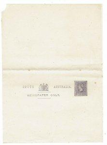 SOUTH AUSTRALIA 1880S QV 1/2D NEWSPAPER WRAPPER
