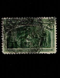 Scott #243 VF-used. SCV - $750.00