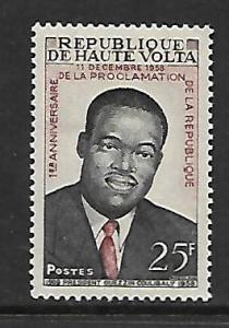 UPPER VOLTA 70 MINT HINGED,  PRESIDENT OUEZZIN COULIBALY