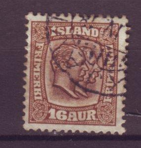 J25593 JLstamps 1907-8 iceland used #78 kings