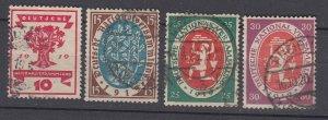 J28719, 1919-20 germany set used #105-8 designs