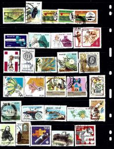 Brazil #4 30 different stamps all Used