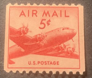 #C37 – 1948 5c DC-4 Skymaster Coil MLH