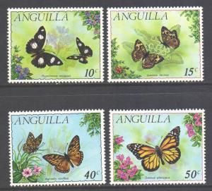 Anguilla Scott 123/126 - SG108/111, 1971 Butterflies Set MNH**