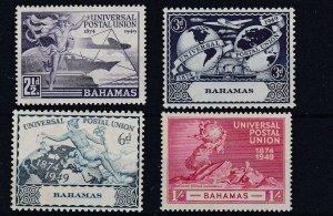 BAHAMAS       1949  UPU SET OF 4  MH