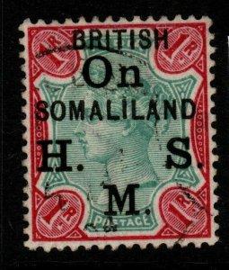 SOMALILAND SGO5 1903 1r GREEN & CARMINE FINE USED