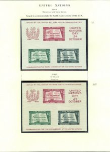 EDW1949SELL : UNITED NATIONS 1955 Scott #38. 1st & 2nd Printing. VF, MNH + FDCs.