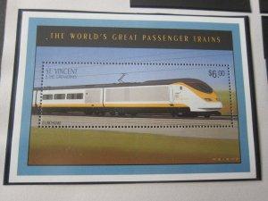 St Vincent 1995 Sc 2016 Train MNH