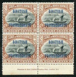 North Borneo SG133 8c U/M (odd light tone spot) corner bend