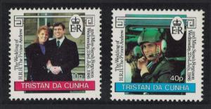 Tristan da Cunha Royal Wedding Prince Andrew 2v SG#415-416
