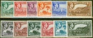 Montserrat 1938-48 set of 12 SG101-112 Fine Mtd Mint